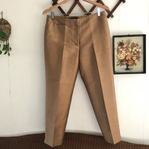 Silk & Wool Cropped Trousers